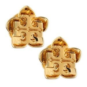 Tory Burch Cecily Gold Stud Flower Earring NWT
